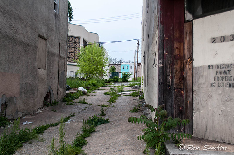 Abandoned buildings in Baltimore